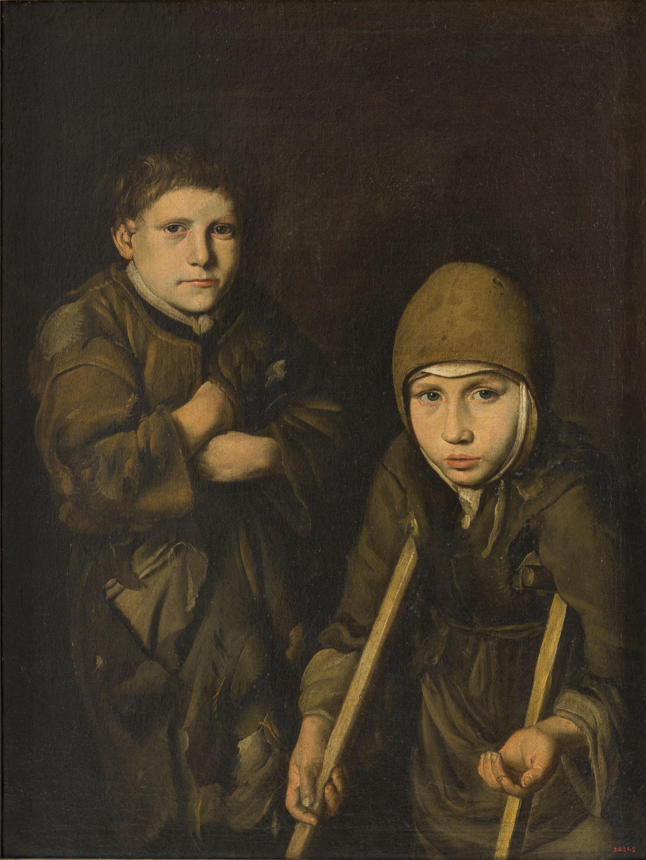 Mestre de la tela jeans - Nens captaires - Entre 1680-1700