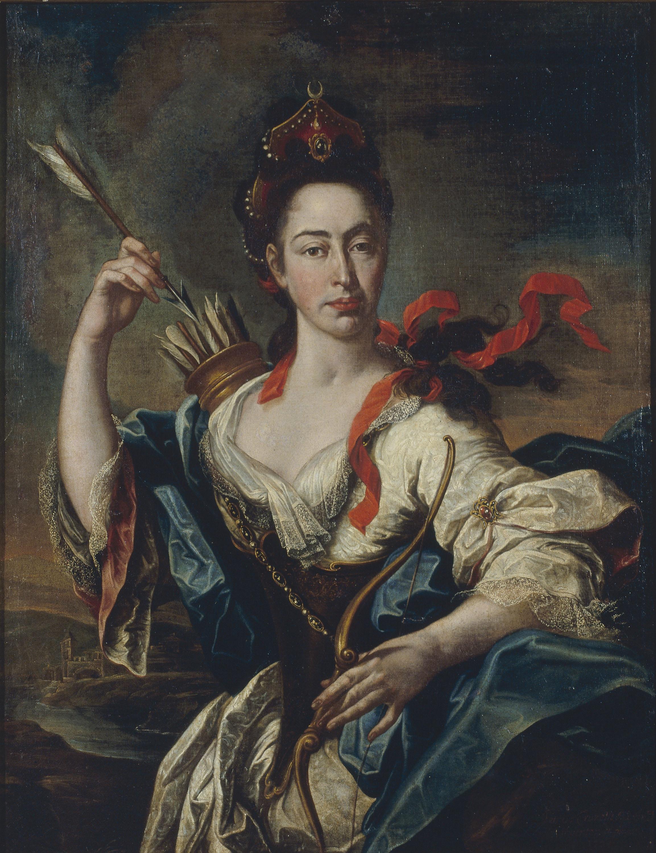 Pere Crusells - Retrat de dama amb atributs de Diana - 1725