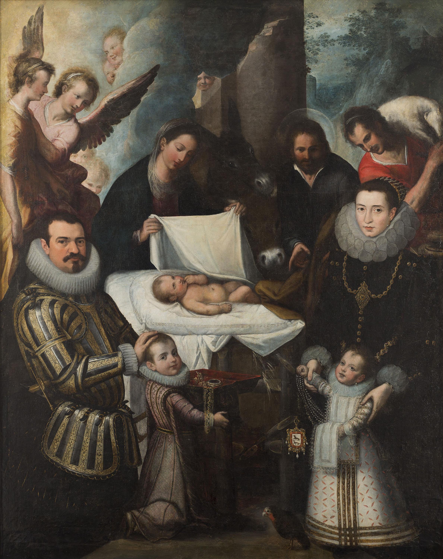 Juan de Roelas - Adoració de Crist amb la família Ayala - Entre 1600-1610