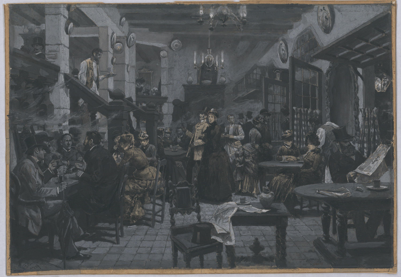 Josep Lluís Pellicer - Interior d'un cafè de París - 1884