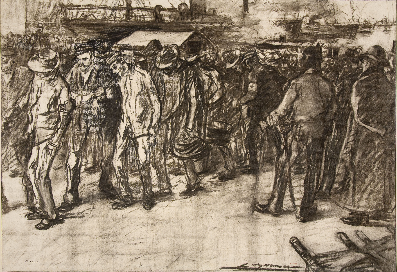 Lluís Graner - Desembarco de soldados procedentes de Cuba - Hacia 1898