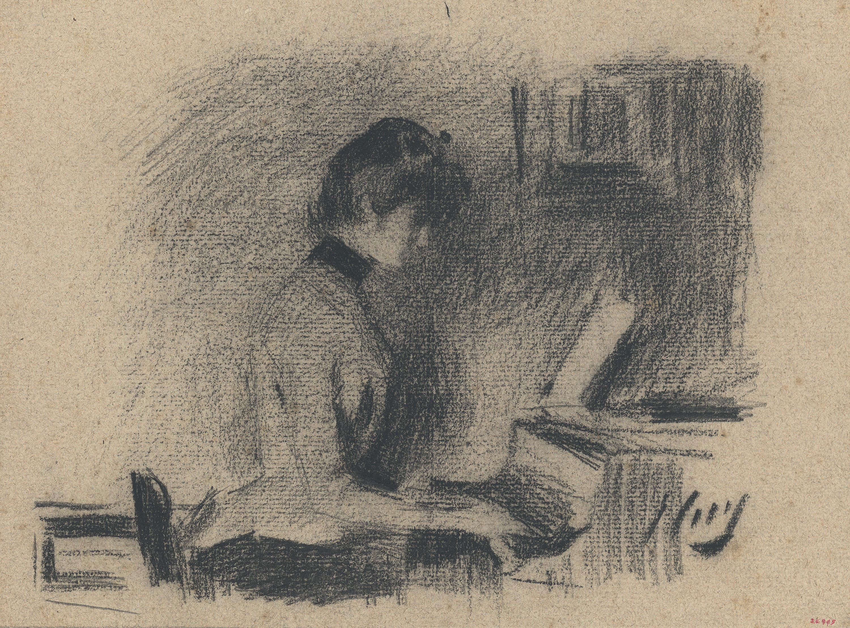 Ramon Casas - Srta. A... at the piano - Circa 1892