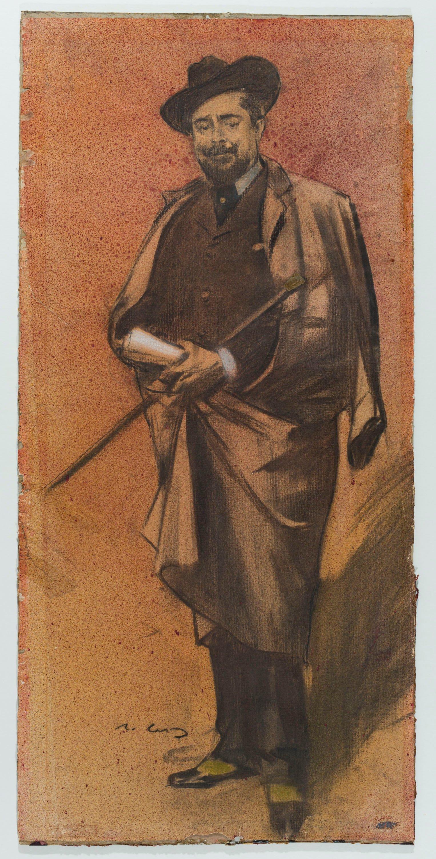 Ramon Casas - Retrat de Pompeu Gener i Babot, «Peius» - Cap a 1897-1899