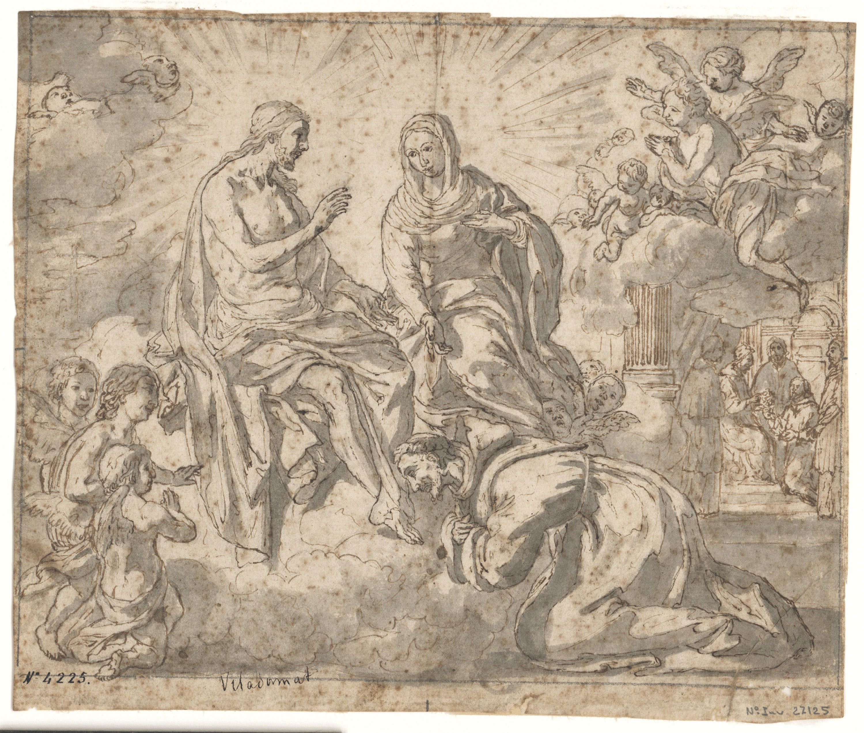 Antoni Viladomat - Study for the picture 'Jesus Gives the Indulgence of the Porziuncola to Saint Francis' - Circa 1729-1733