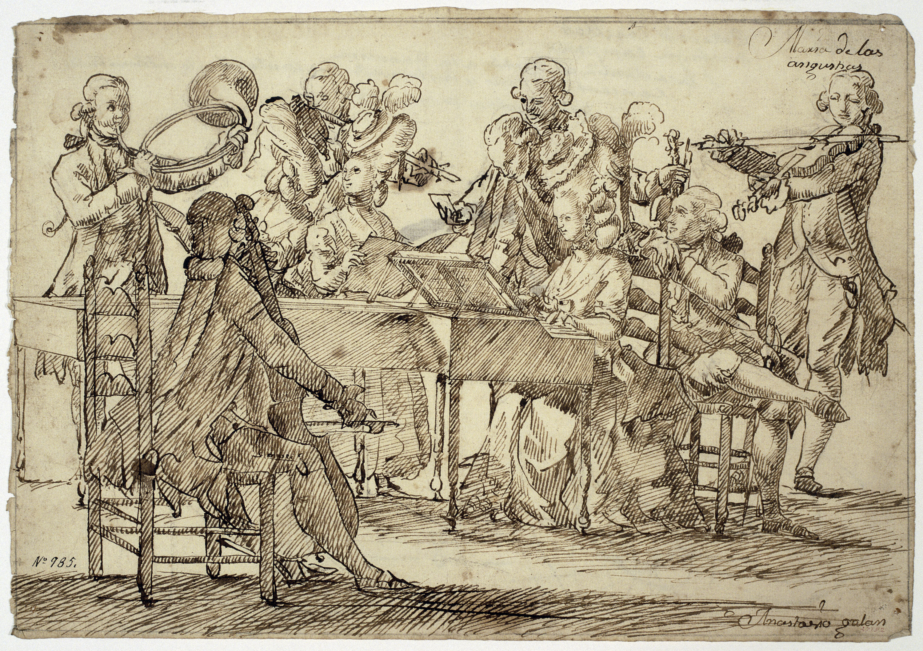 Antoni Casanovas Torrents - The Academy of theater in Lent. Concert of voices and instruments  - Circa 1760-1770