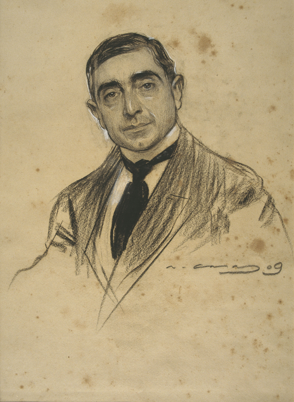 Ramon Casas - Retrato de Dionís Baixeras - 1909
