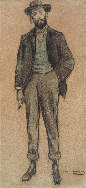 Ramon Casas - Portrait of Pere Romeu - Circa 1897-1899