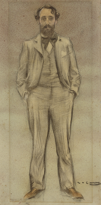 Ramon Casas - Retrato de Enric Clarasó - Hacia 1897-1899