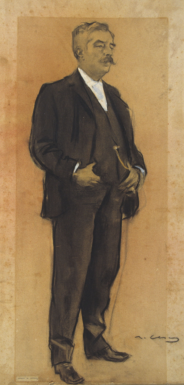 Ramon Casas - Portrait of Arcadi Mas i Fondevila - Circa 1897-1899