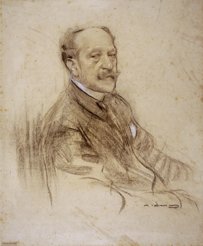 Ramon Casas - Portrait of José Villegas - 1904