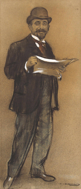 Ramon Casas - Retrato de Francesc Casanovas - Hacia 1897-1899