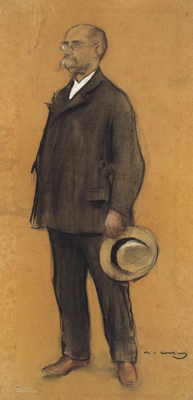 Ramon Casas - Retrato de Francesc Miquel i Badia - Hacia 1897-1899