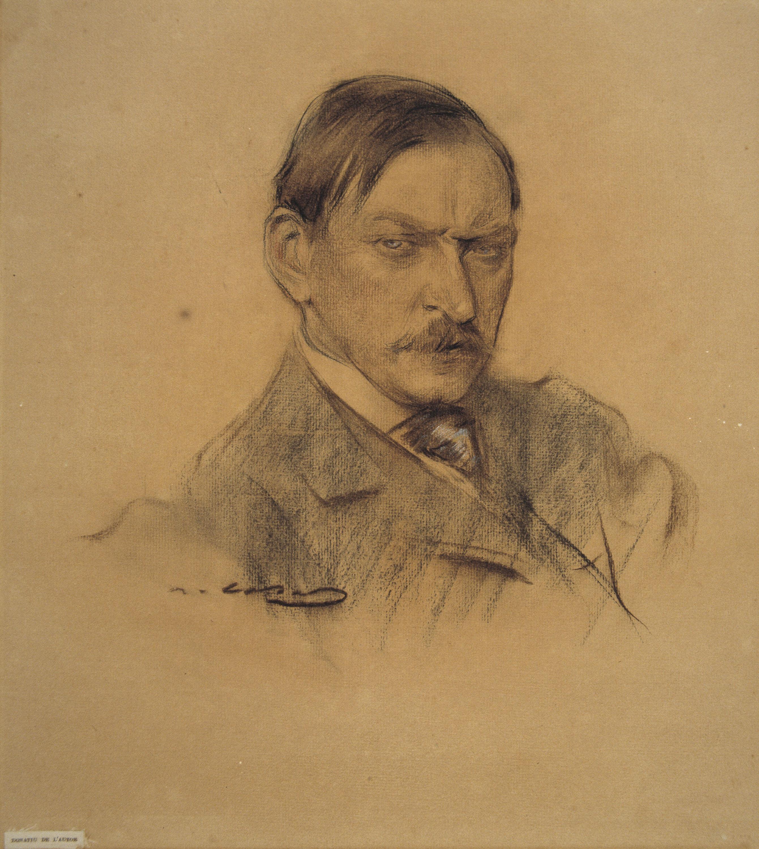 Ramon Casas - Retrato de Enric Galwey - Hacia 1903-1904
