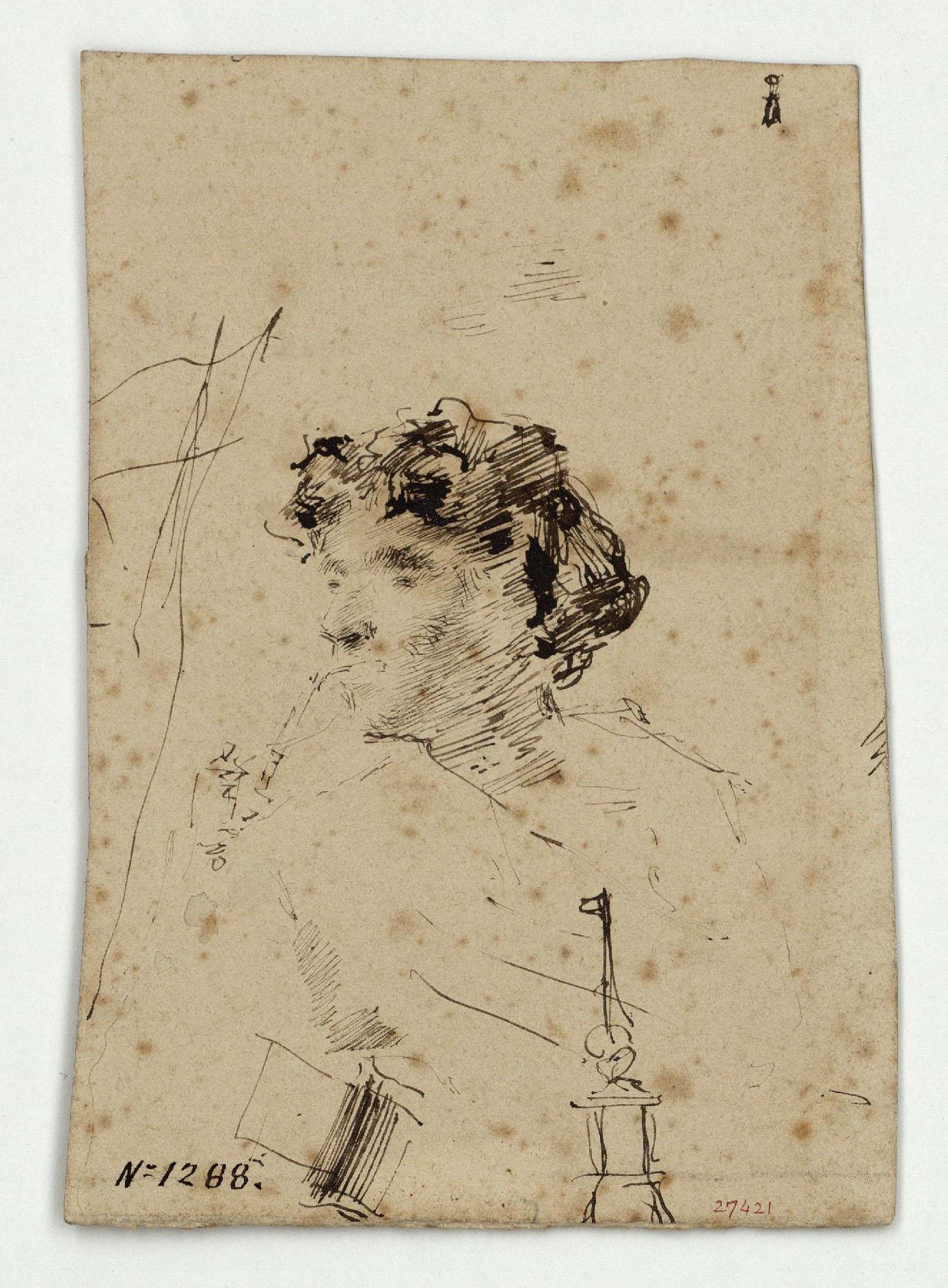 Marià Fortuny - Fumador - Cap a 1856-1858