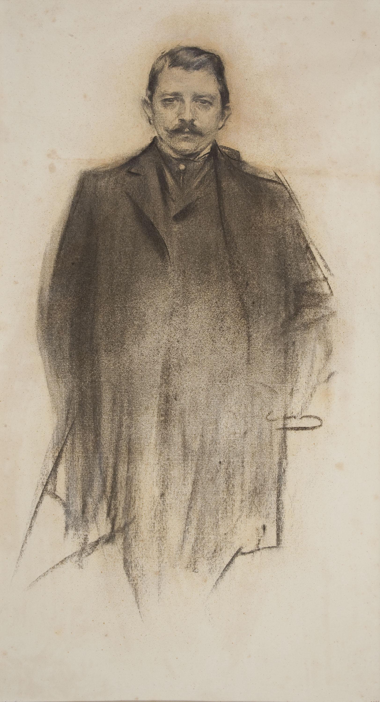 Ramon Casas - Retrato de Vittorio Zampieri - Hacia 1900