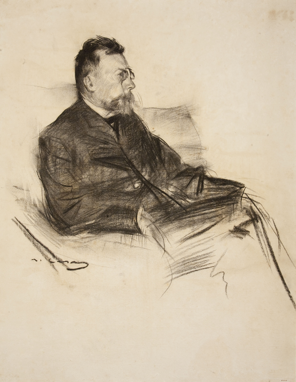 Ramon Casas - Retrato de Àngel Guimerà - Hacia 1903