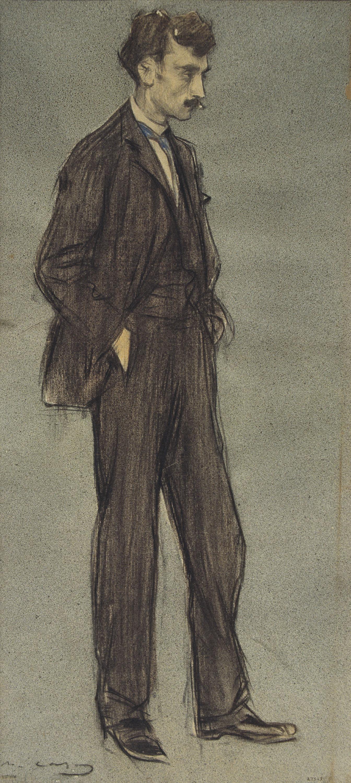 Ramon Casas - Retrato de Ignasi Iglésias - Hacia 1897-1899