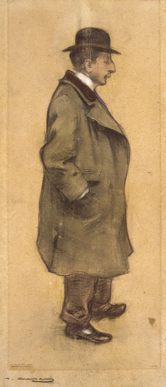 Ramon Casas - Portrait of Pere Coll i Rataflutis - Circa 1897-1898