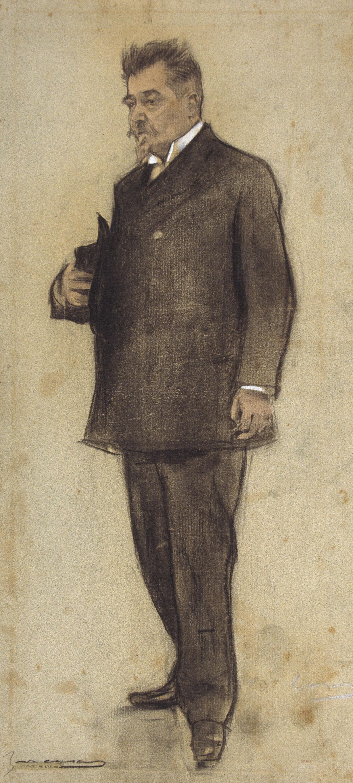 Ramon Casas - Retrat d'Emili Vilanova - Cap a 1897-1899