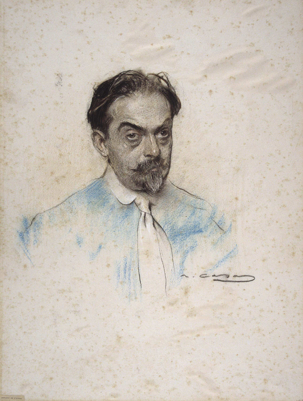 Ramon Casas - Retrat de Josep Miró - Cap a 1904-1908