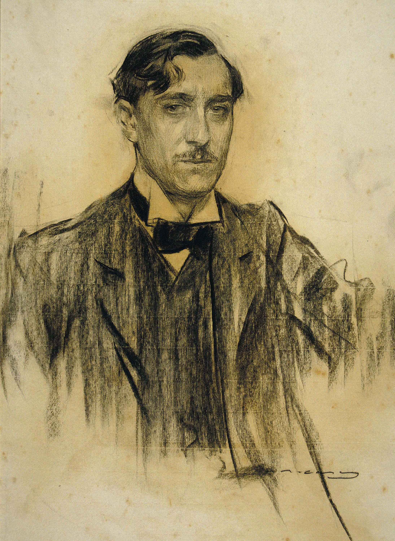 Ramon Casas - Portrait of Ramiro de Maeztu - Madrid, circa 1904-1905