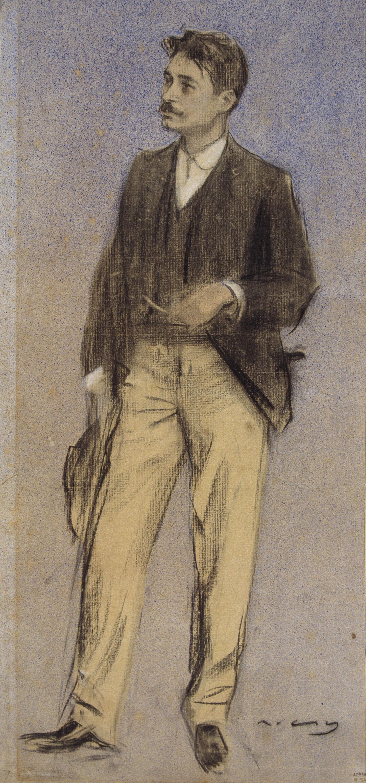 Ramon Casas - Retrato de Lluís Millet - Hacia 1897-1899