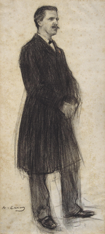 Ramon Casas - Retrato de Vincent d'Indy - 1900