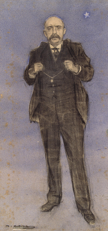Ramon Casas - Retrato de Dionís Puig - Hacia 1897-1899