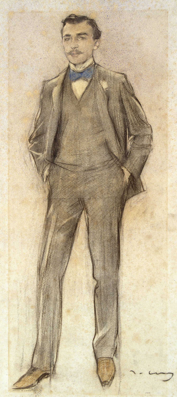 Ramon Casas - Retrato de Antoni Ribera - Hacia 1897-1899