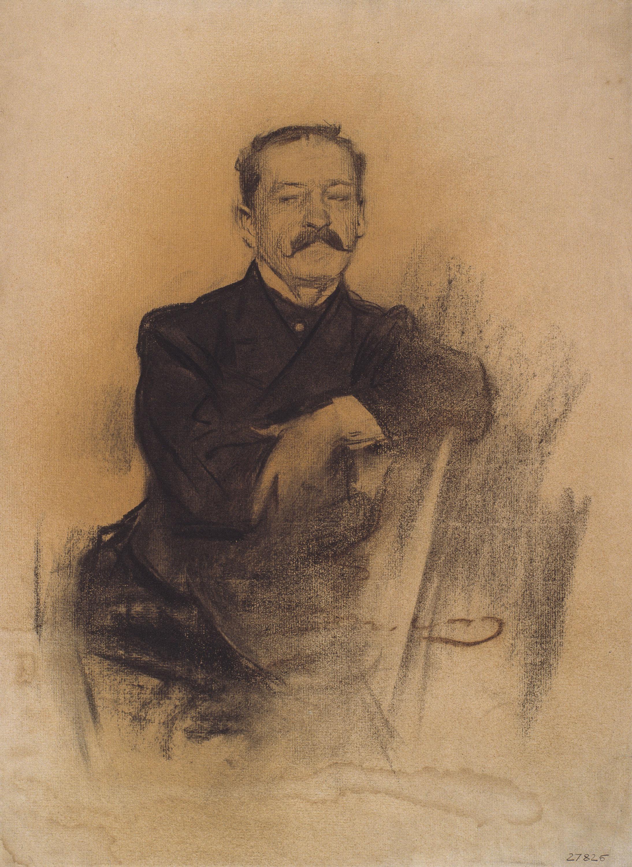 Ramon Casas - Retrato de Ettore Paladini - 1900