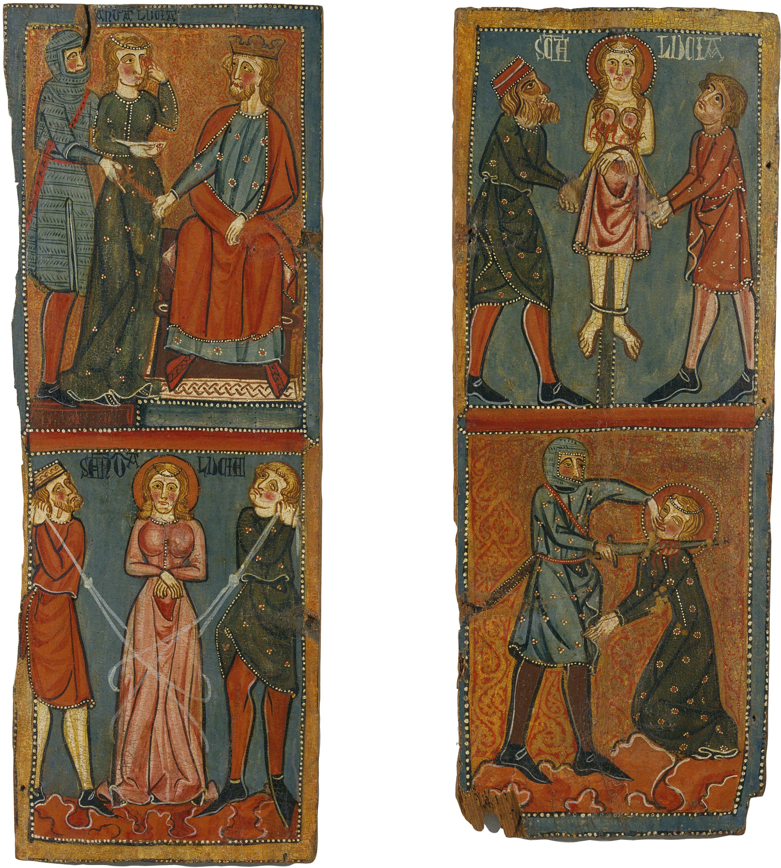 Anònim. Catalunya - Tauletes amb escenes del martiri de santa Llúcia - Cap a 1300
