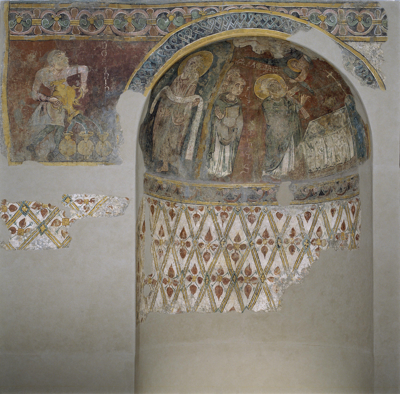 Mestre de Sant Esteve d'Andorra - Fornícula i fragment del mur nord de Sant Esteve d'Andorra - Cap a 1200-1210