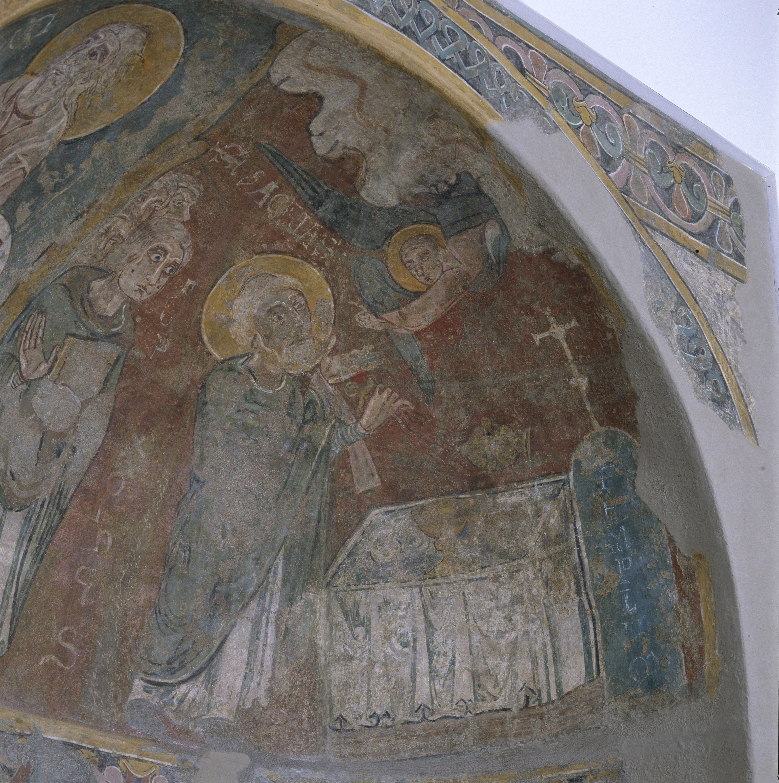 Mestre de Sant Esteve d'Andorra - Fornícula i fragment del mur nord de Sant Esteve d'Andorra - Cap a 1200-1210 [2]