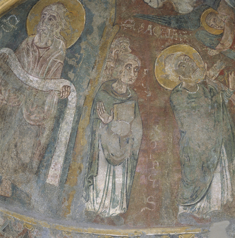 Mestre de Sant Esteve d'Andorra - Fornícula i fragment del mur nord de Sant Esteve d'Andorra - Cap a 1200-1210 [5]