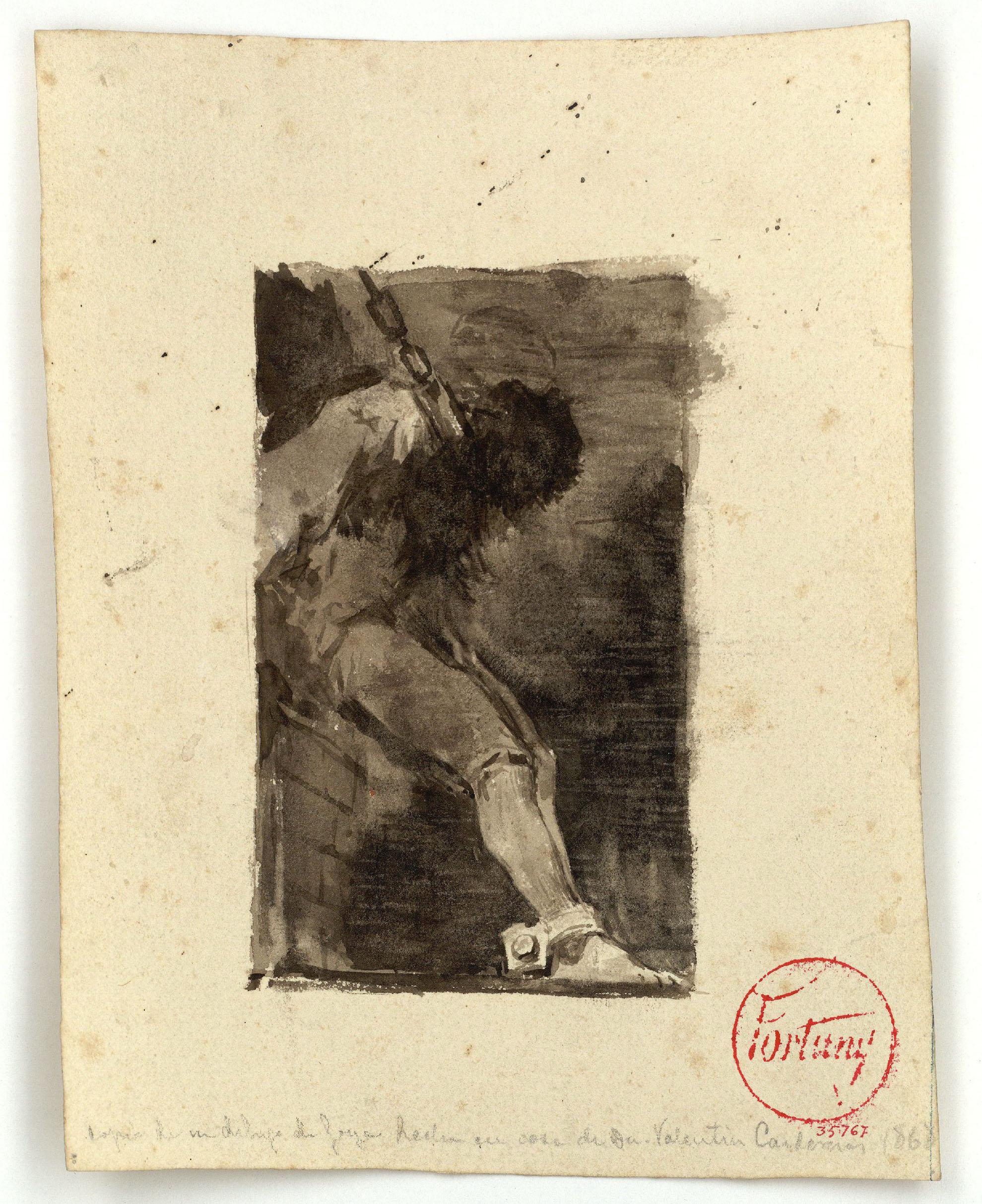Marià Fortuny - Presoner (còpia d'un dibuix de Goya) - Cap a 1868