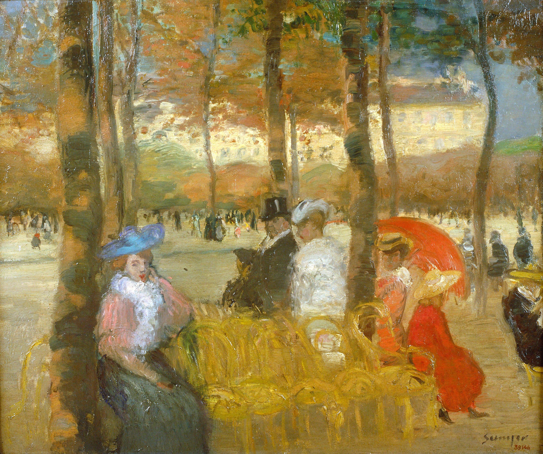 Joaquim Sunyer - Jardins del Luxembourg - París, cap a 1905