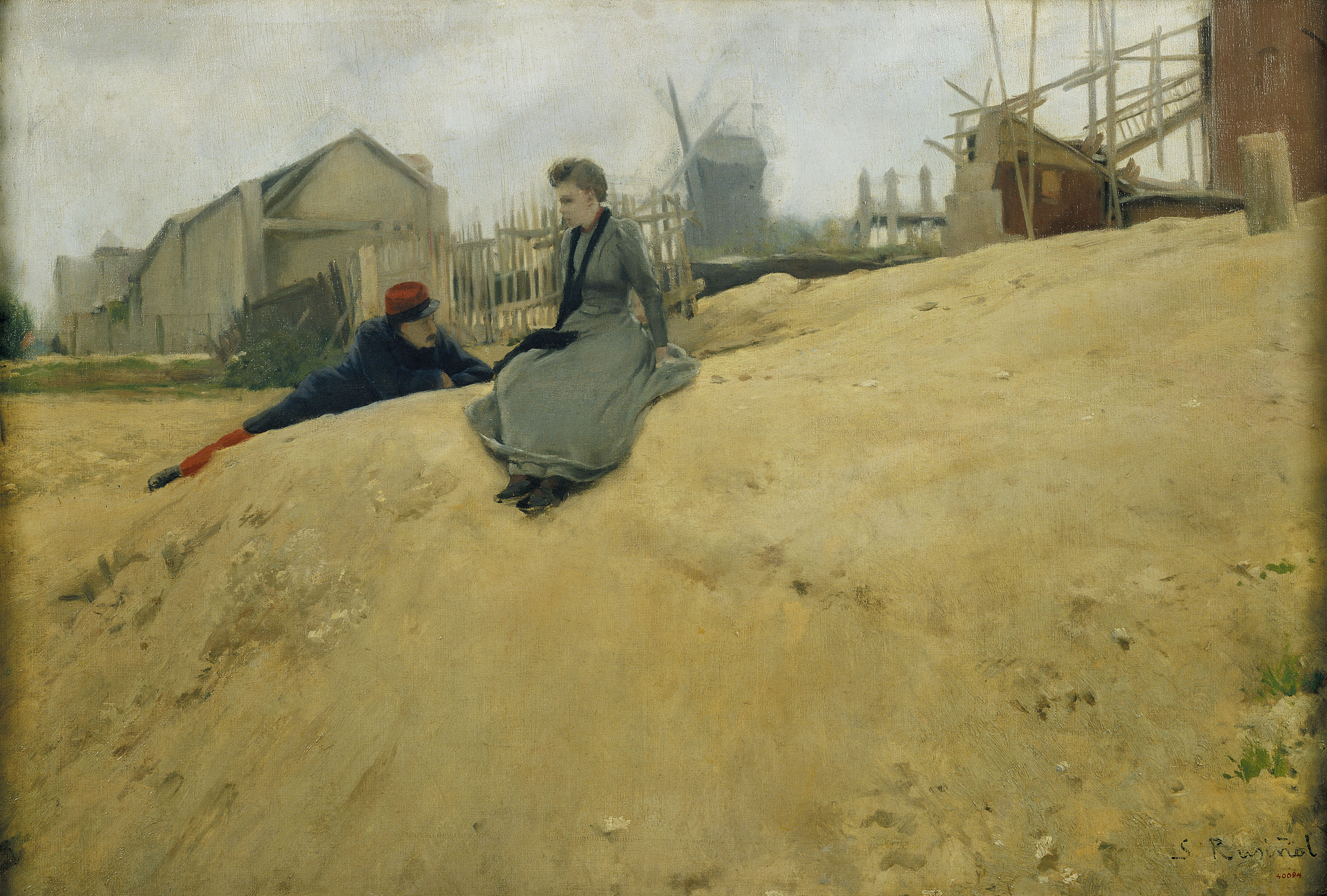 Santiago Rusiñol - On Campaign - Paris, 1891