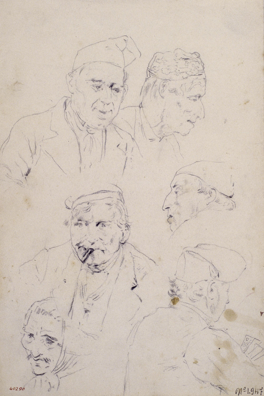 Santiago Rusiñol - Tipus pagesos - Cap a 1883