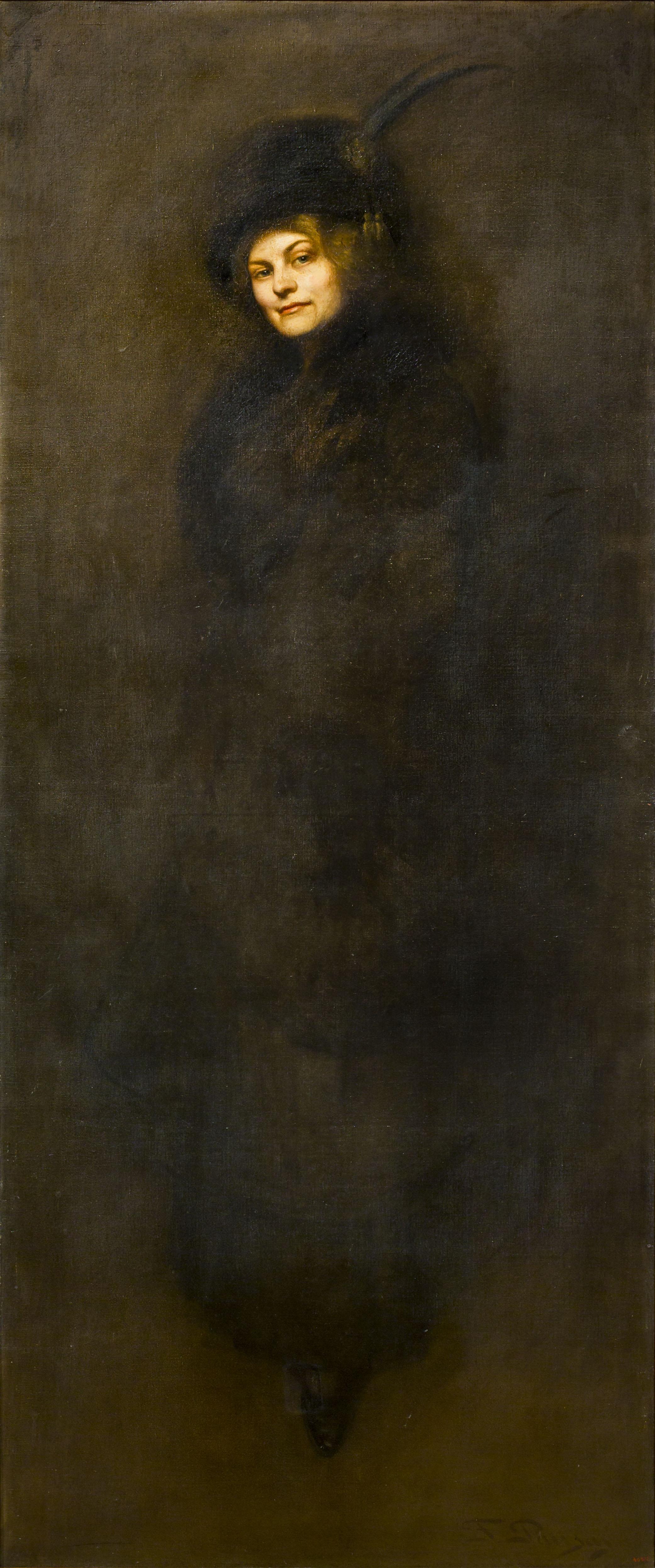Francesc Pausas - Retrat de Maria Sampere, dona del pintor - 1911