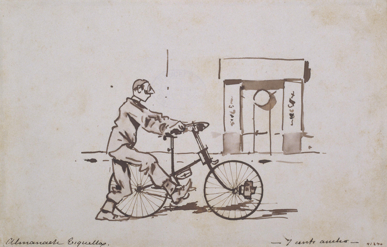 Ramon Casas - Ciclista. L'anada (Cyclist. The outward trip) - 1880