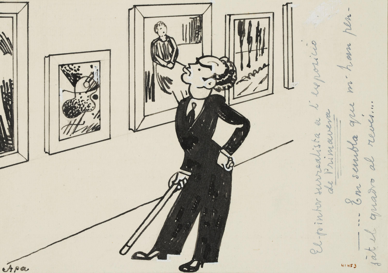 Feliu Elias - El pintor surrealista a l'exposició de Primavera - 1935