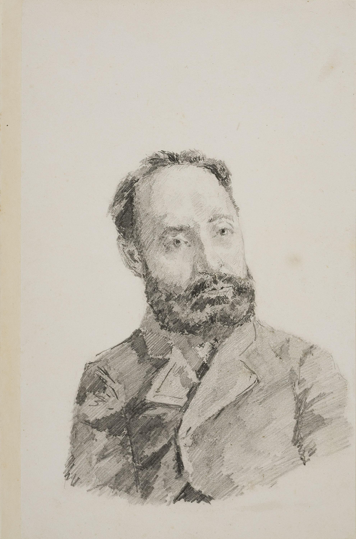 Francesc Gimeno - Vores de l'Ebre, Tortosa (anvers) / Retrat masculí (revers) - Cap a 1878 [1]