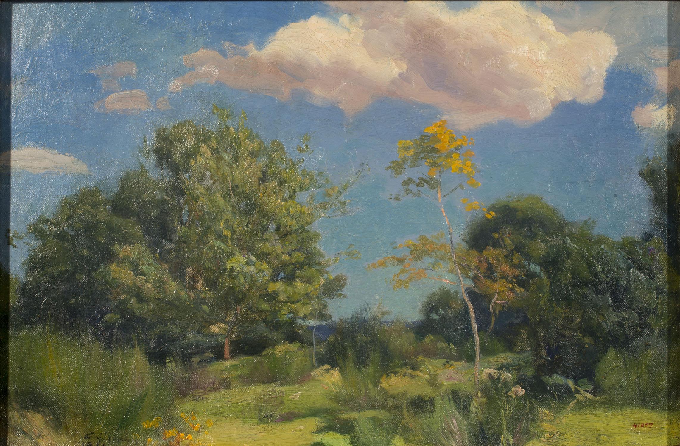 Enric Galwey - Paisatge amb arbres - 1922