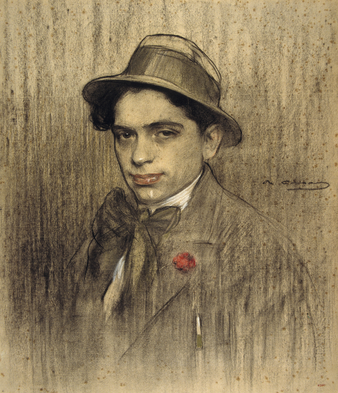 Ramon Casas - Retrat de Lluís Bagaria - Cap a 1903-1906