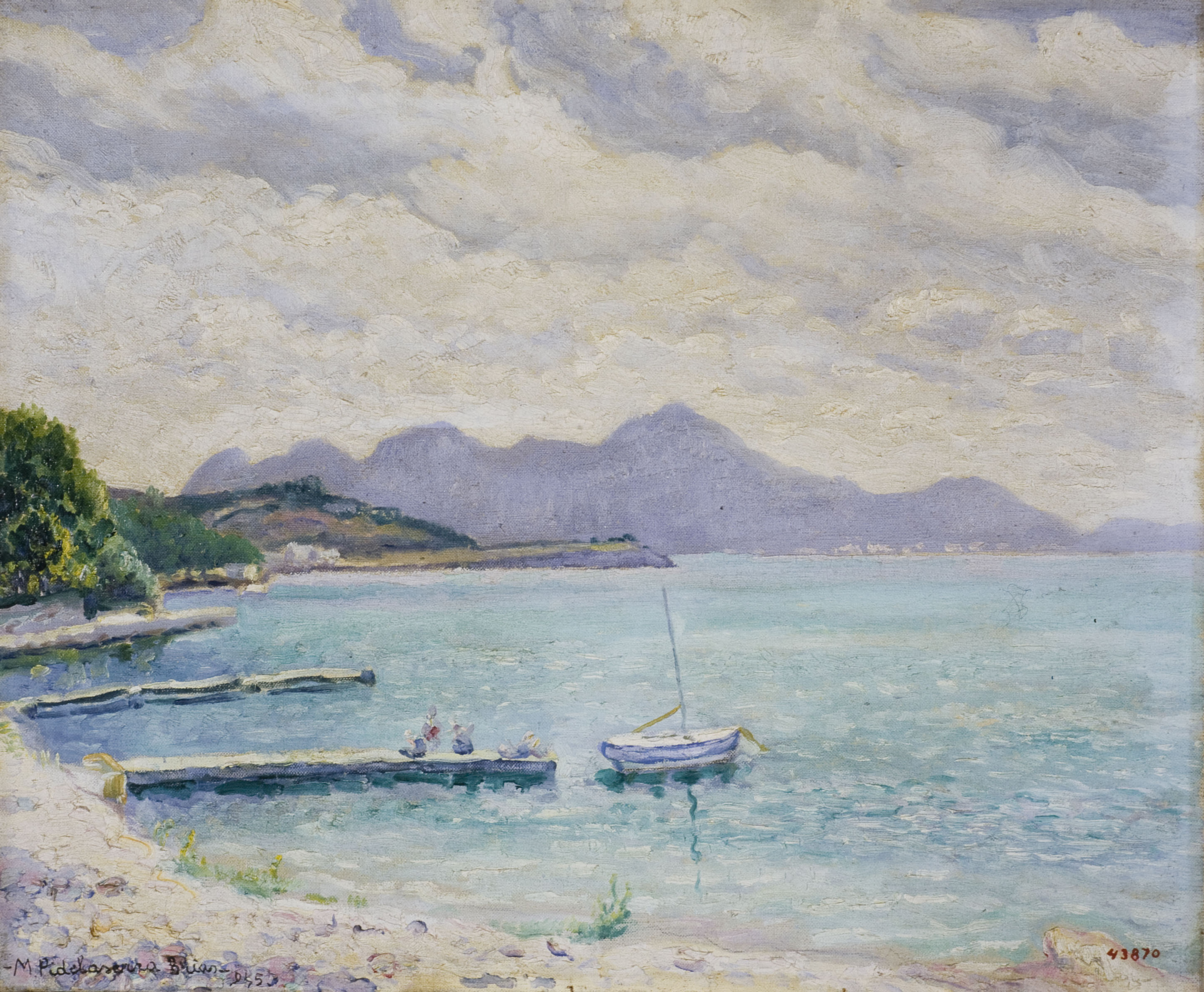 Marià Pidelaserra - Majorca. Port of Pollensa - 1945