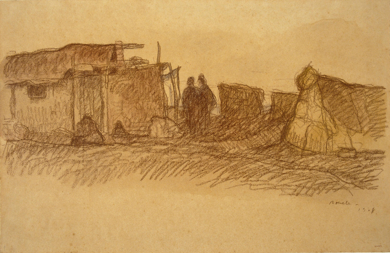 Isidre Nonell - Shanties on El Somorrostro in Barcelona - 1908