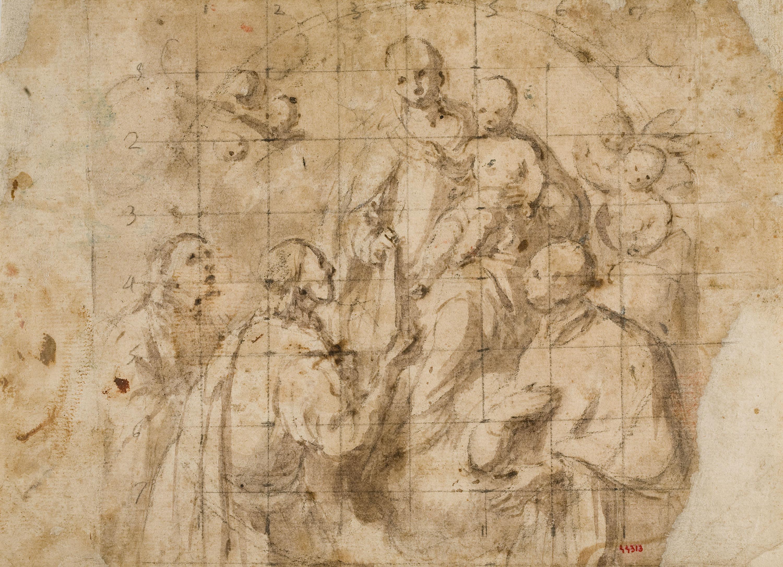 Antoni Viladomat - Estudi per al quadre «Fundació de l'orde de la Mercè» - Cap a 1730-1745