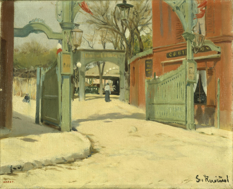 Santiago Rusiñol - Entrada al parc del Moulin de la Galette - París, 1891