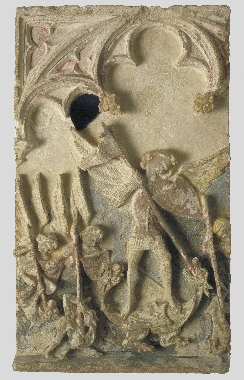 Mestre de Sant Mateu - Victòria de sant Miquel i els àngels sobre els dimonis - Darrer terç del segle XIV