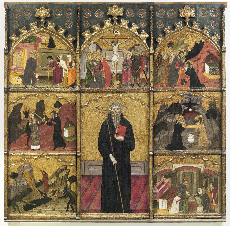 Mestre de Rubió - Retaule de sant Antoni Abat - Cap a 1360-1375